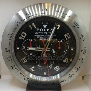 Rolex Daytona Black Dial Wall Clock