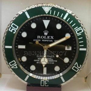 Rolex Submariner Green Black Dial Wall Clock