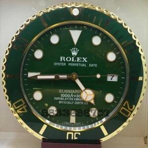 Rolex Submariner Green Wall Clock