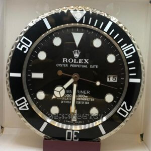 Rolex Submariner Black Dial Wall Clock