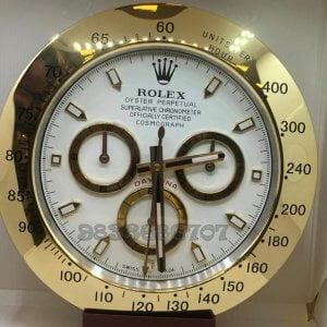Rolex Daytona Gold White Dial Wall Clock
