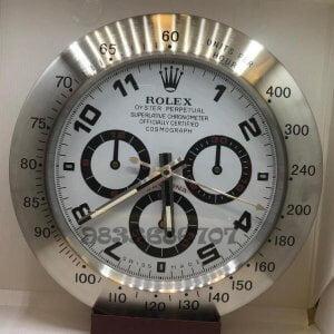 Rolex Daytona Silver White Dial Wall Clock