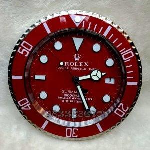 Rolex Submariner Red Wall Clock