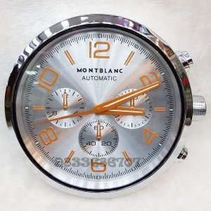 Mont Blanc Silver Wall Clock