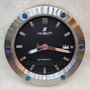 Hublot Classic Fusion Silver Black Dial Wall Clock