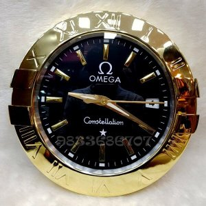 Omega Constellation Gold Black Dial Wall Clock