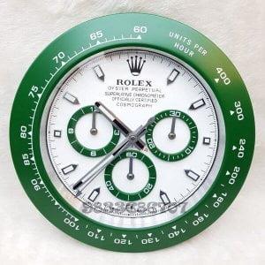Rolex Daytona Green White Dial Wall Clock