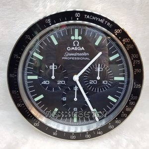 Omega Seamaster Black Dial Wall Clock