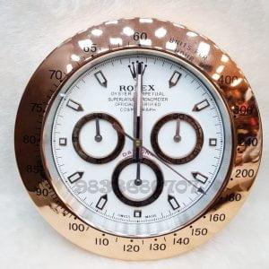 Rolex Daytona Rose Gold White Dial Wall Clock