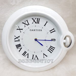 Cartier Rotonde White Roman Wall Clock