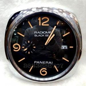 Luminor Panerai Radiomir Black Seal Silver Wall Clock