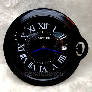 Cartier Rotonde Black Wall Clock