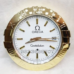 Omega Constellation Gold White Dial Wall Clock