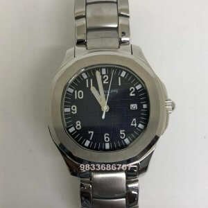 Patek Philippe Aquanaut Steel Black Dial Swiss Automatic Watch