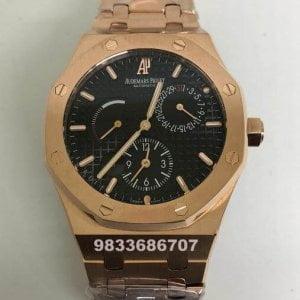 Audemars Piguet Royal Oak Time Power Reserve Black Dial Swiss Automatic Watch