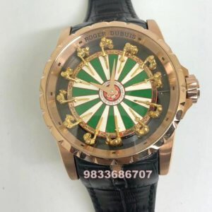 Roger Dubuis The Knights Of The Round Table Rose Gold Swiss ETA 2250 Valjoux Automatic Watch