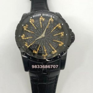 Roger Dubuis The Knights Of The Round Table Full Black Swiss ETA 2250 Valjoux Automatic Watch