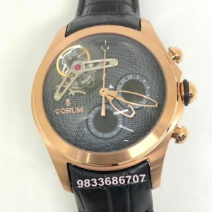 Corum Bubble Tourbillon Black Dial Swiss Automatic Watch