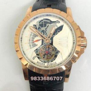 Roger Dubuis Excalibur Skeleton Tourbillion White Swiss Automatic Watch