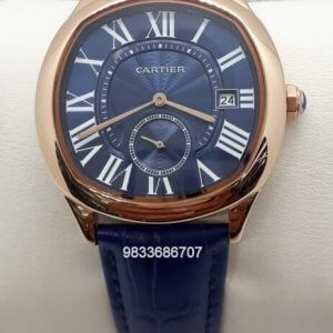 Cartier Drive Rose Gold Blue Dial Swiss Automatic Watch