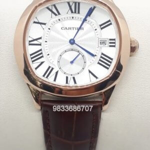 Cartier Drive Rose Gold White Dial Swiss Automatic Watch