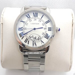 Cartier Ronde Solo Steel White Dial Women's Watch