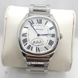 Cartier Drive Steel White Dial Watch