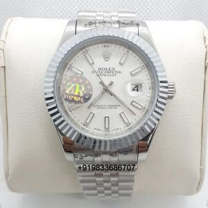 Rolex Date Just Steel White Dial Swiss Automatic Watch
