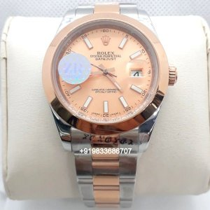 Rolex Date Just Dual Tone Rose Gold Dial Swiss Automatic Watch