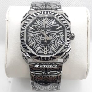 Bvlgari Octo Hand Engraved Steel Swiss Automatic Watch