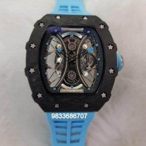 Richard Mille RM 5301 Tourbillon Poblo Mac Donough Blue Rubber Strap Swiss ETA Automatic Watch