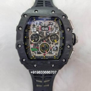 Richard Mille RM 011 Full Black Swiss ETA Automatic Watch