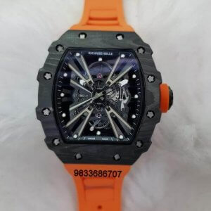 Richard Mille RM 1201 Orange Rubber Strap Swiss ETA Automatic Watch