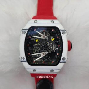 Richard Mille RM 2702 Tourbillon Rafael Nadal Red Rubber Strap Swiss ETA Automatic Watch