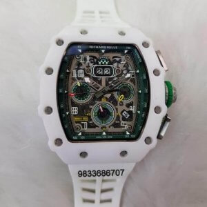 Richard Mille RM 011 White Swiss ETA Automatic Watch