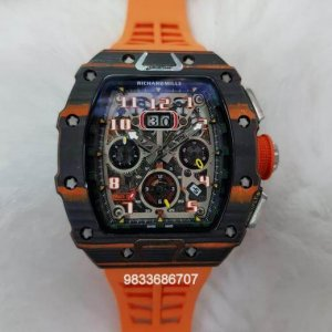 Richard Mille RM 011 Orange Swiss ETA Automatic Watch