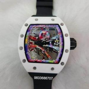 Richard Mille RM 6801 Black Rubber Strap Swiss ETA Automatic Watch