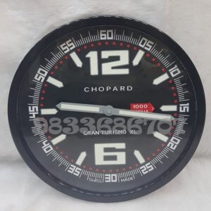 Chopard Gran Turismo Black Wall Clock
