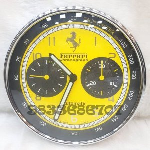 Ferrari Yellow Dial Wall Clock