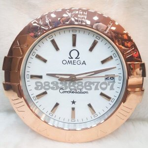 Omega Constellation Rose Gold White Dial Wall Clock