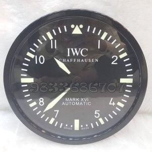 IWC Black Wall Clock