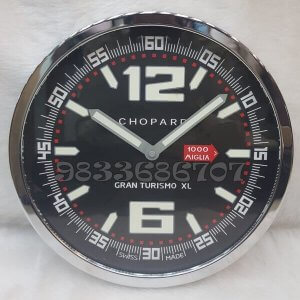 Chopard Gran Turismo Black Dial Wall Clock