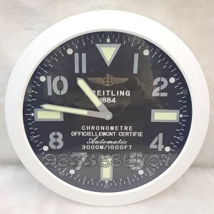 Breitling Black Dial Wall Clock