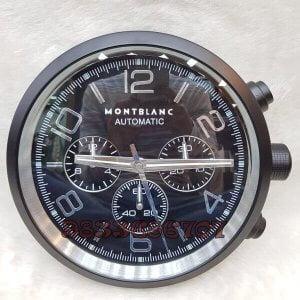 Mont Blanc Black Wall Clock