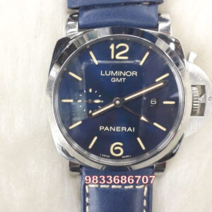 Luminor Panerai Blue Leather Strap Swiss Automatic Watch