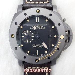 Luminor Panerai Submersible Titanium Black Dial Swiss Automatic Watch