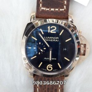 Luminor Panerai Rose Gold Black Dial With Date Swiss Automatic Watch