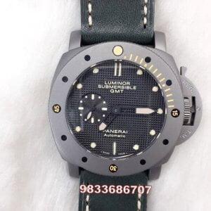 Luminor Panerai Submersible GMT Titanium Swiss Automatic Watch