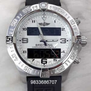 Breitling Exospace White Dial Chronograph Watch