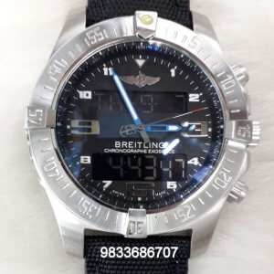 Breitling Exospace Black Dial Chronograph Watch
